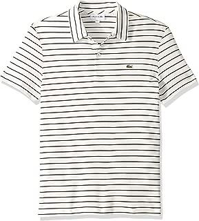 Lacoste Men's Short Sleeve Oima Interlock Regular Fit Striped Neckline