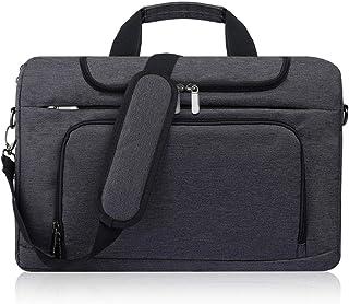 BERTASCHE Laptoptasche 17 Zoll - 17,3 Zoll Notebooktasche Schulter Tasche für Uni Arbeit Business