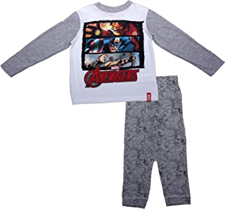 Kids Marvel Avengers Pyjamas Blue Boys Long Children Superhero Nightwear 3-10