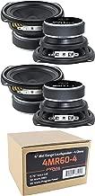 4X 4 PRV Audio 4MR60-4 Mid Range Loud Speaker 4 Ohm 240W Pro Car Audio Speaker