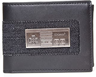 Officially Licensed Nintendo NES Metal Badge Gamer Bi-Fold Wallet
