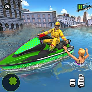 Jet Ski Flood Hero Rescue Simulator