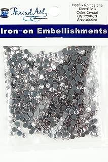 Threadart SS16 (4mm) Crystal Hot Fix Rhinestones 5 Gross (720/pkg) Hotfix - Iron on - 32 colors 4 Sizes