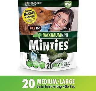 Vetiq Minties Dog Dental Bone Treats, Dental Treats For Dogs, 16Oz