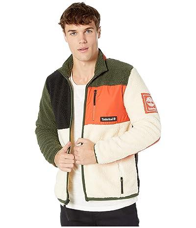 Timberland Outdoor Archive Sherpa Fleece Jacket (Spicy Orange/Duffel Bag/White Smoke) Men