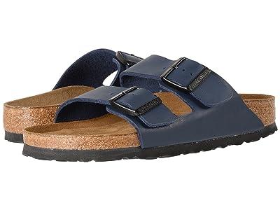 Birkenstock Arizona Soft Footbed (Navy Birko-Flortm) Sandals