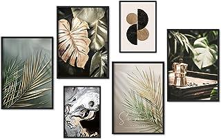 myestado - Tableau Décoration Murale - Set de Poster Premium pour la Maison Salon Chambre Cuisine Bureau - sans Cadres - 4...