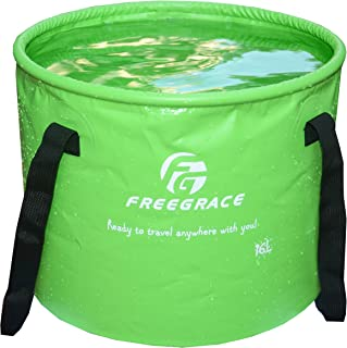 Freegrace Premium Collapsible Bucket Compact Portable Folding Water Container –..