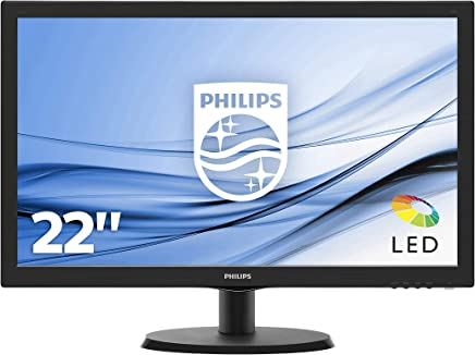 "Philips Monitor 223V5LSB2 Monitor per PC Desktop 21,5"" LED, Full HD, 1920 x 1080, 5 ms, VGA, Attacco VESA, Nero - Confronta prezzi"