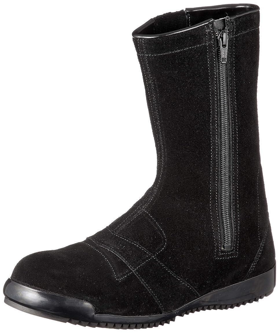 公爵夫人混乱した踏み台作業靴 安全靴半長靴 高所 通気性 JIS規格 チャック付半長靴安全靴 3055黒床