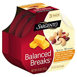Sargento Balanced Breaks with Natural Sharp Cheddar Cheese with Cashews and Cherry Juice- Infused Dr