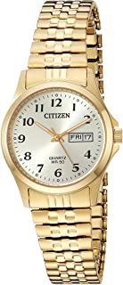 Women's ' Quartz Stainless Steel Casual Watch, Color:Gold-Toned (Model: EQ2002-91P)