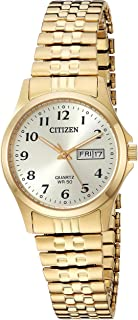Citizen Women's ' Quartz Stainless Steel Casual Watch, Color:Gold-Toned (Model: EQ2002-91P)