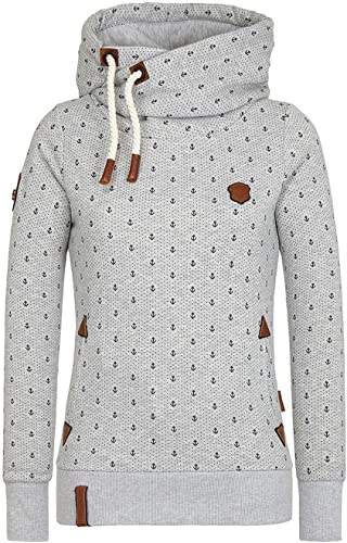 Naketano Darth Ankerdizzel Female Hoody gris Melange, XL