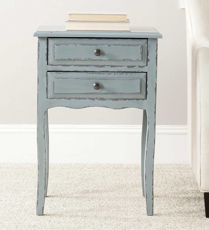 Kansas City Mall Safavieh Home Collection Lori online shop Pale and Blue White 2-Drawer Smoke