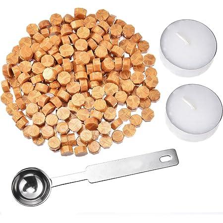 100pcs ceralacca compressa pillola perline ottagonali cera perline per vintage retr/ò busta sigillo cera timbro e lettera mix