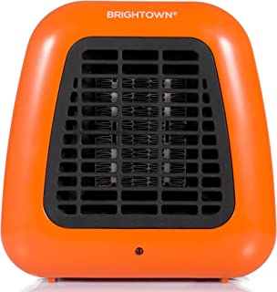 Brightown Personal Ceramic Portable-Mini Heater for Office Desktop Table Home Dorm, 400-Watt ETL Listed for Safe Use, Orange