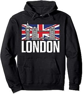 London British Vintage United Kingdom England Souvenir Gift Pullover Hoodie