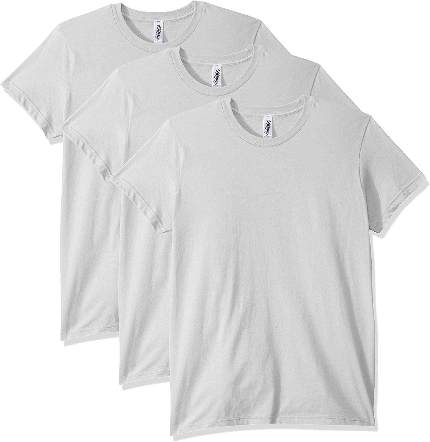 Marky G Apparel Women's Fine Jersey Pack Max 45% OFF Super special price 3 Sleeve T-Shirt Short