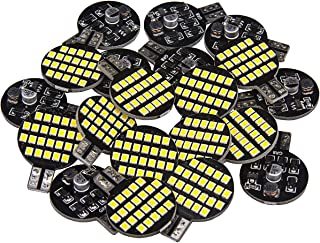 20 x Super Bright T10 921 194 LED Bulb For RV Trailer Camper Motorhome Boat Ceiling Dome Interior Light 12V 24-SMD Neutral White Wedge Lamp (Pack of 20)