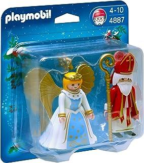 PLAYMOBIL - San Nicolás y ángel, Figuras de Juguete (4887