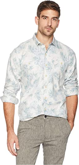 Beachy Palms Flannel Shirt