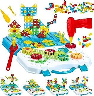 Gvoo Mosaique Enfant Puzzle 3D, 503 Pcs Jeux de Construction avec Perceuse Electrique, Puzzle Enfant Jeu Bricolage Jouet M...