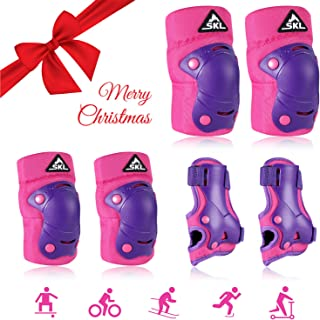 Knee Pads for Kids Knee and Elbow Pads with Wrist Guards SKL 3 in 1 Protective Gear Set for Inline Roller Skating Skateboarding Rollerblading Cycling BMX Bike Scooter