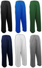 ANDREW SCOTT Men's 6 Pack 100% Cotton Jersey Knit Yoga Lounge & Sleep Pajama Pants