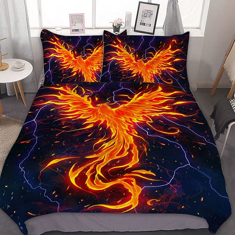 Phoenix Rage Ultra Soft Bedding 3 Piece Duvet Limited time cheap sale Microfiber Set Max 67% OFF Cov