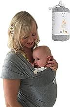 DaisyGro Baby Wrap Carrier, 2 Size Options, Soft Cotton Blend, Grey, 100% Aus Reviews