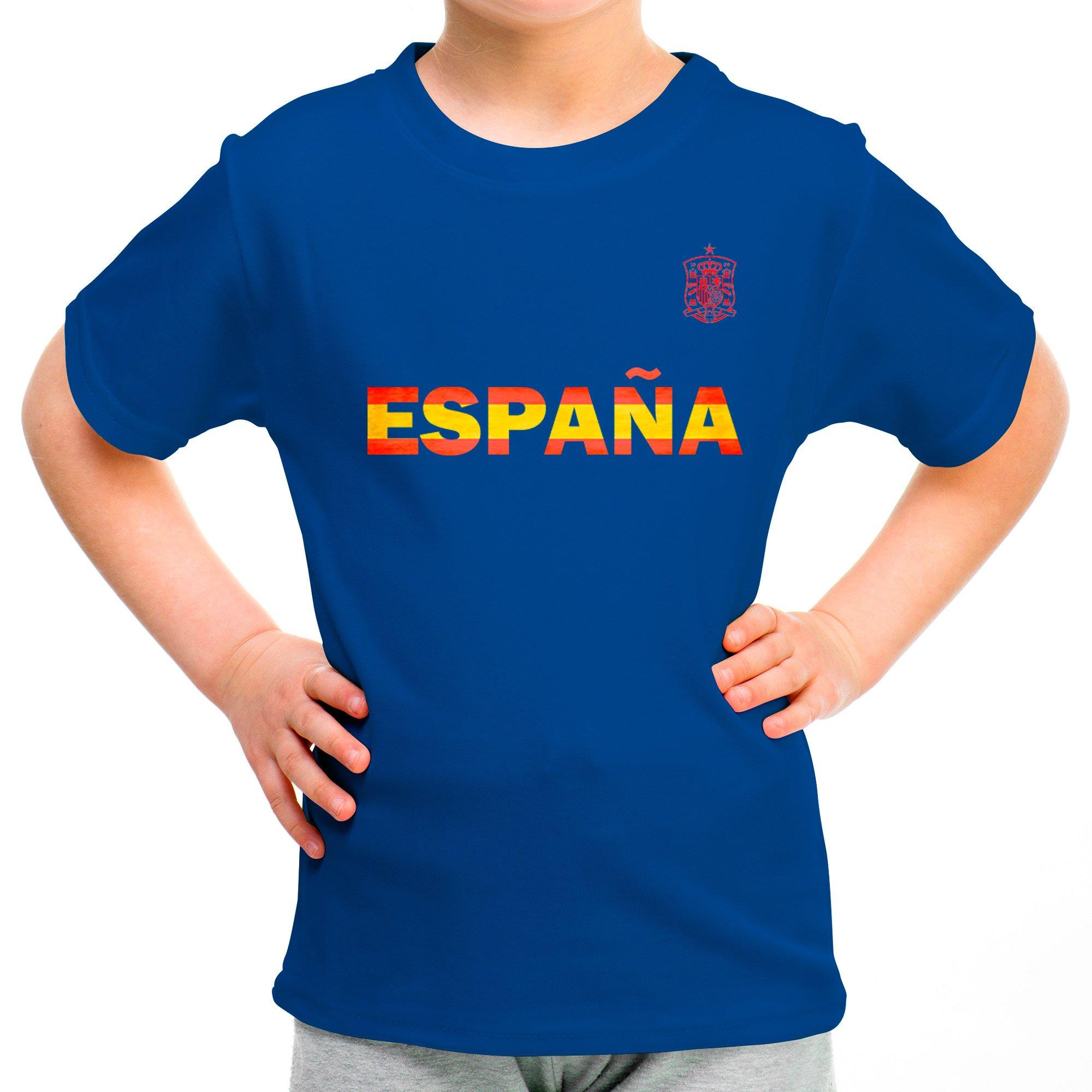 LolaPix Camiseta España Personalizada con tu Nombre y Dorsal | Selección Española | Varios Diseños Tallas | 100% Algodón | Niño | Azul: Amazon.es: Hogar
