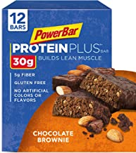 PowerBar Protein Plus Bar, Chocolate Brownie, 3.28 Ounce (Pack of 12)