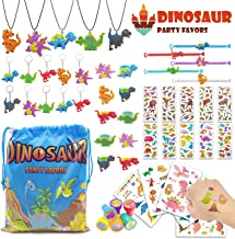 Dinosaur Party Favors with Storage Bag,Dinosaur Party Goodie Bag Fillers,Prizes Gift Carnivals for Kids Birthday