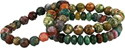 Nurture Jasper Genuine Gemstone Beaded Bracelet Set