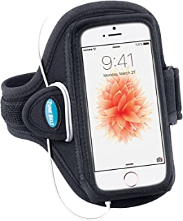 Tune Belt Armband for iPhone SE 5 5s 5c & iPod touch 5th 6th Generation - For Running & Working Out - Sweat-Resistant AB87 [Black]