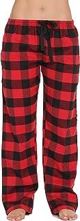 #followme Silky Fleece Buffalo Plaid Pajama Pants for Women