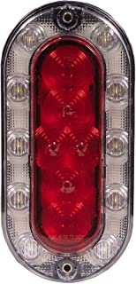 Maxxima M85615R Hybrid Series Red/White Oval LED Stop/Tail/Rear Turn and Back-Up Light