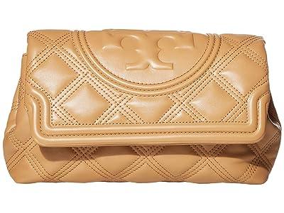 Tory Burch Fleming Soft Clutch (Tiramisu) Handbags