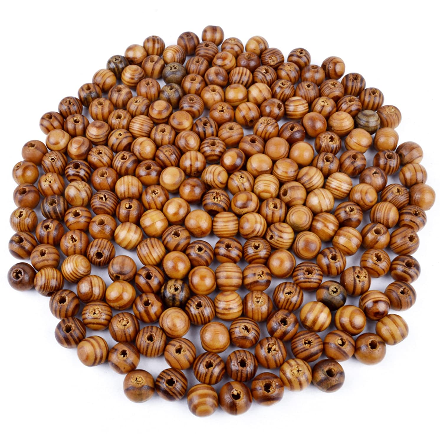 BronaGrand 200pcs 12mm Wood Round Bead Natural Wood Spacer Beads Wooden Beads for Jewelry Making DIY