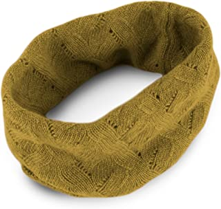 Ladies 100% Cashmere Infinity Scarf Snood - Mustard - made in Scotland RRP $150