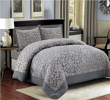 06242e63e3 XL Moderne Doppelbett Bettgarnitur 230x250cm Tagesdecke mit Kissenbezug  Bettüberwurf Bett Decke + Kissenbezüge