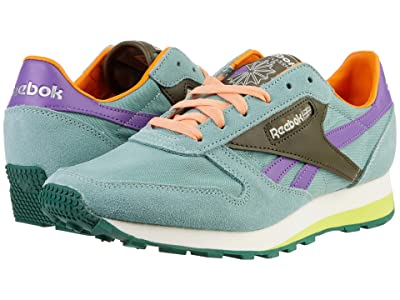Reebok Lifestyle Classic Leather Az (Green Slate/Army Green/Major Purple) Shoes
