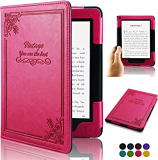 ACdream Kindle Voyage [Vintage] Case, Folio Premium PU Leather Book Style Case Cover for Kindle Voyage (2014 Version) with...