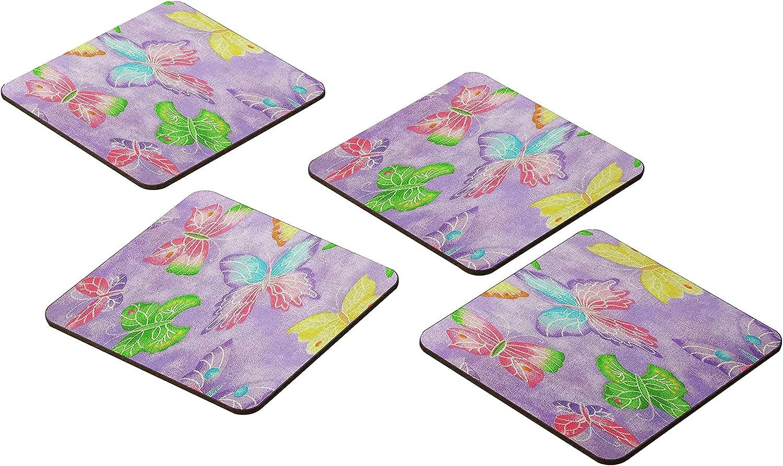 Bonamaison Coasters - Set of Beauty products 4 E Popular brand Absorbent -Premium 9x9CM MDF