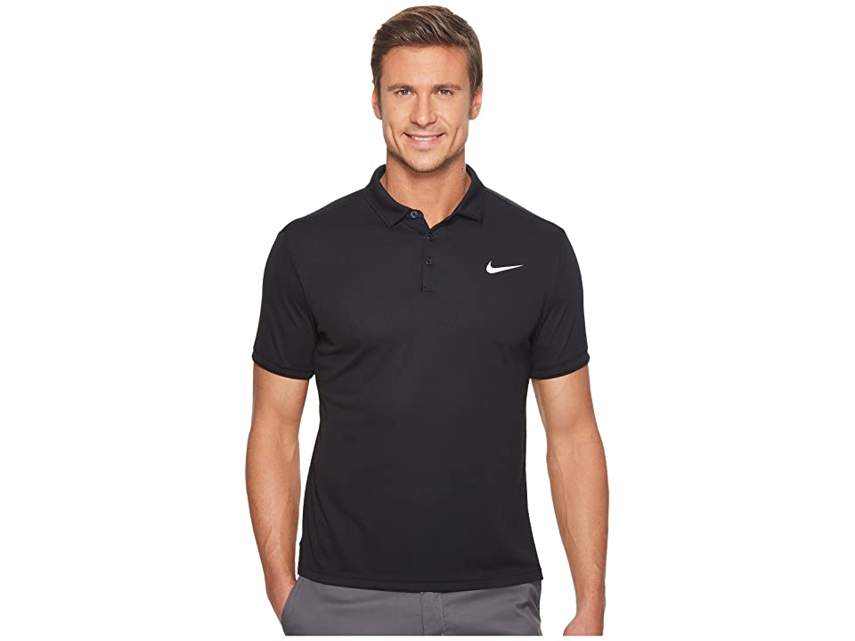 Nike Court Dry Tennis Polo (Black/Black/White) Men
