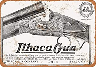 Mariner 1910 Ithaca Shotguns Rustic Women Aluminum Funny Aluminum Funny Art Decor Movie Poster Vintage Tin Sign Dorm Game Room 12 X 8 in