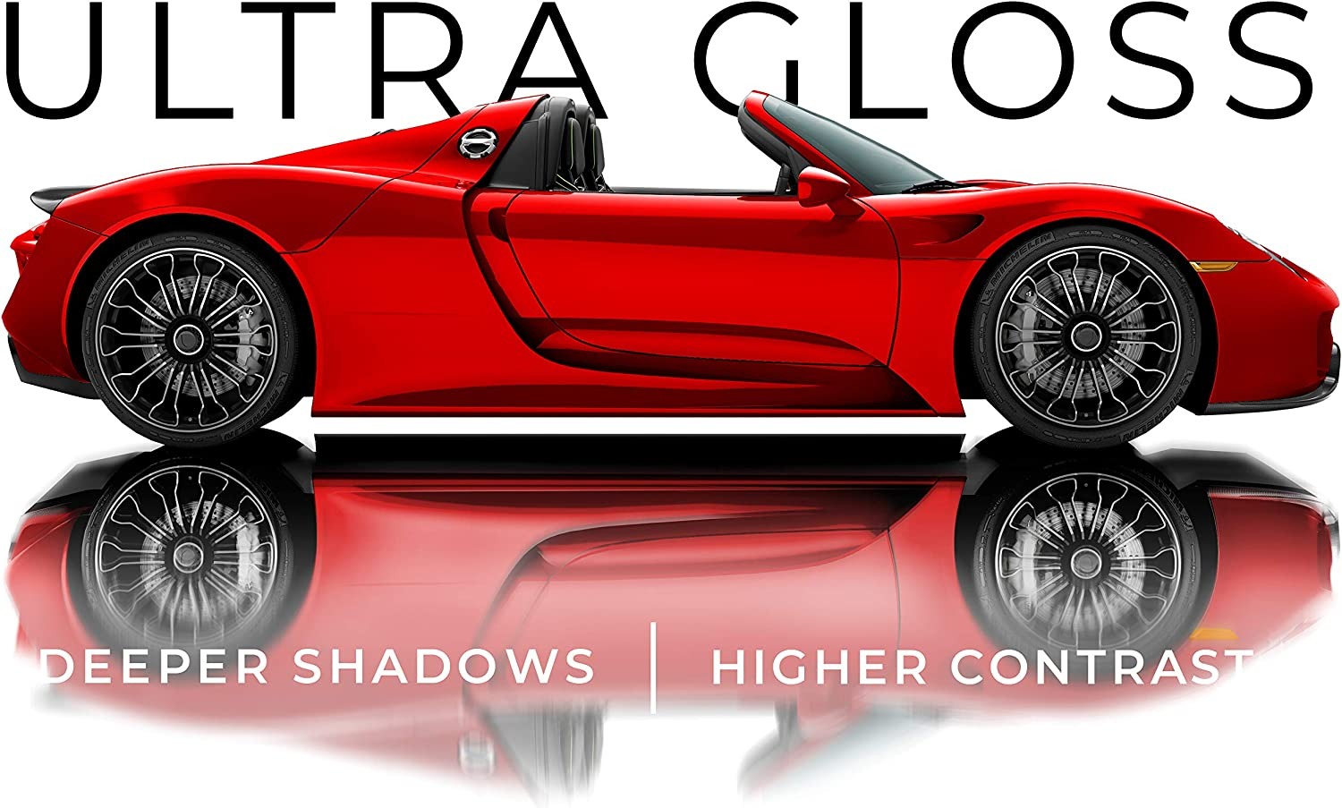 Stretchable Protective Cap Liner 3ft x 5ft VViViD+ Ultra Gloss Candy Red Vinyl Car Wrap Premium Paint Replacement Film Roll with Nano Air Release Technology Indoor Outdoor Self Adhesive
