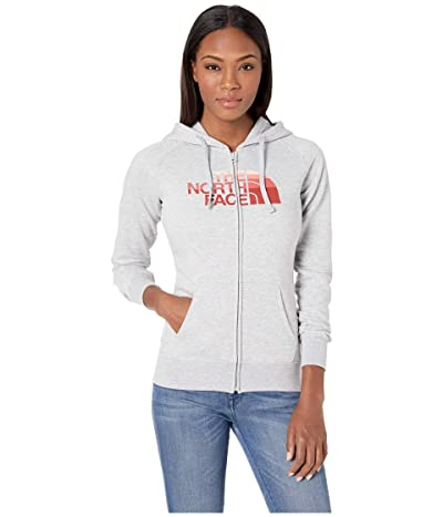 The North Face Half Dome Full-Zip Hoodie (TNF Light Grey Heather/Spiced Coral Multi) Women