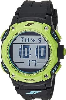 Sonata Fibre (SF) Digital Grey Dial Men's Watch-77073PP03